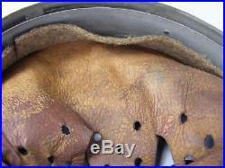 #1 Original German WWII 1940 Dated Zinc Helmet Liner Size 66 Shell 58 Liner