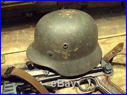 100% Original German WWII Luftwaffe M40 Combat Helmet KIA