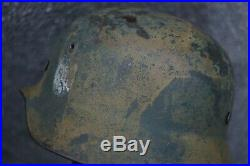 100% original ww2 German period camo m35 Q64 helmet Gefr. Muler