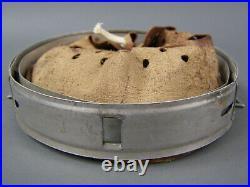 #4 Original German WWII Aluminum Helmet Liner 64nA/56 Dated 1939 Post War Dyed