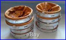 5Pcs. WWII German Helmet Steel Liners for M35, M40, M42