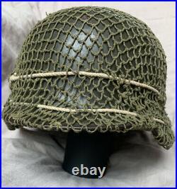 All-original WW2 German M35 Helmet, complete with liner