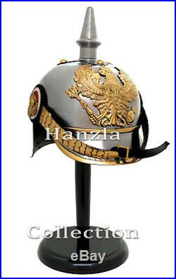 Armour German Prussian Pickle Haube Helmet WWI/WW2 Collectible Militaria Helmet