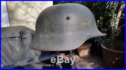 Authentic Complete WW2 M 35 German helmet Size EF 66/58
