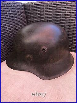 Authentic German WW II M42 Combat Helmet Large 66