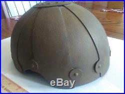 Authentic German WWII Luftwaffe Fliegerstahlhelm Flight Protective Helmet SSK 90