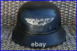 Authentic WWII German Luftschutz Air Defense Helmet Kopweite 55