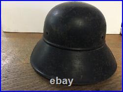 Authentic WWII German Luftschutz Air Defense Helmet withDecal ML18