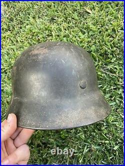 Battle Damaged GI BRINGBACK WW2 German Helmet War Trophy KIA