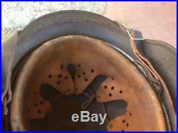 CASQUE ALLEMAND LW M40 CAMO TROIS COULEURS D'ORIGINE german helmet helm ww2 beau