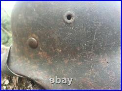 CASQUE ALLEMAND M40 no decal helmet helm ww2 casco D'ORIGINE german BEAU COULEUR