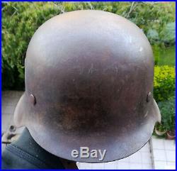 Casque Allemand M42 De Ww2 Elite Forces D'elite German M42 Helmet From Ww2
