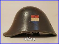 Dutch German WWII M34 TENO Helmet