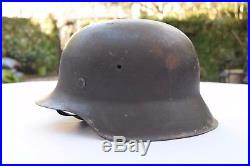ESTATE FRESH German WW2 M42 Helmet COMPLETE Leather Chin Strap and Liner WWII
