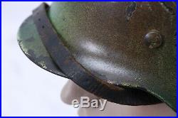 Early WWII German Mod. 35 Camo Helmet ET64
