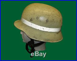 Early West German Firefighter Fire Helmet Close To M38 WWII Helmet Named