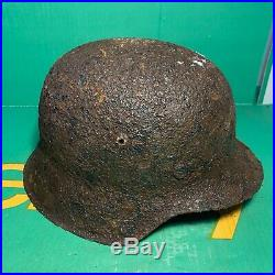 Fantastic WW2 German Army M42 Helmet Shell Found in Normandy With Liner