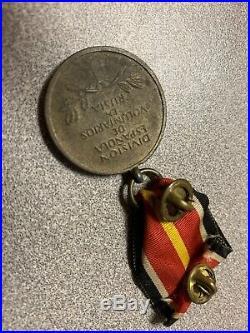 GERMAN HELMET on WW2 WAR BADGE GERMANY AWARD MEDAL SPAIN VOLUNTEERS RUSSIA