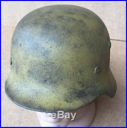 GERMAN IMPERIAL WW2 HELMET MODEL GERMANY WW2 ORIGINAL M-35 number