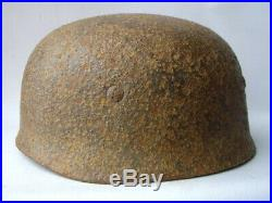 GERMAN WWII M38 RELIC Helmet with Remnants Of Paint NO DECAL 100% Genuine