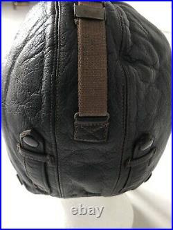 Genuine WW2 German Luftwaffe Pilots Flying Hat Cap Helmet Leather. Final Price