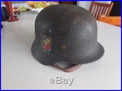 Genuine WW2 German M40 Single Decal Helmet