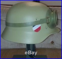 German Army (Heer) Helmet WWII DAK Afrika Korps withGoggles M40 (Finnish 40/55)