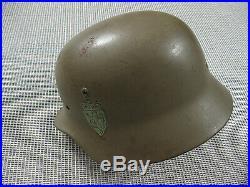 German Army wehrmacht WW2 steel helmet shell m1940 SE 64 exc++