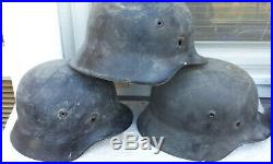 German Helmet 4x Ww2 Stahlhelm M35, M40, M40 M42