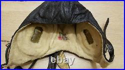 German Helmet Lkpw101 Winter Flying Aviator Cap Luftwaffe Ww2