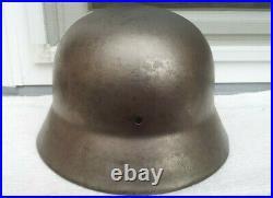 German Helmet M35 Size E. F. 62 Ww2 Stahlhelm + 3x Rivets