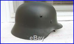 German Helmet M35 Size Et64 Wh Ww2 Stahlhelm