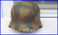 German Helmet M35 Size Q62 Camo Ww2 Stahlhelm