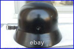 German Helmet M35 Size Q66 + Liner Band Ww2 Stahlhelm