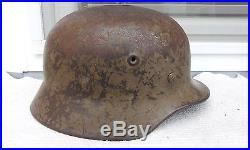 German Helmet M40 Camo Q66 Ww2 Stahlhelm Afrika Dak / Italy