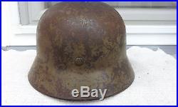 German Helmet M40 Camo Q66 Ww2 Stahlhelm Wehrmacht Luftwaffe Afrika Dak / Italy