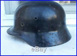 German Helmet M40 Size E. F66 Ww2 Stahlhelm