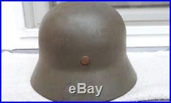 German Helmet M40 Size Ef62 Wehrmacht Ww2 Stahlhelm