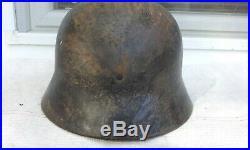 German Helmet M40 Size Et66 Ww2 Stahlhelm Low Serial N. O45
