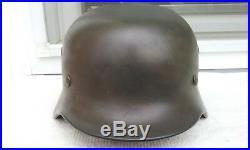 German Helmet M40 Size Q68 Ww2 Stahlhelm Dutch