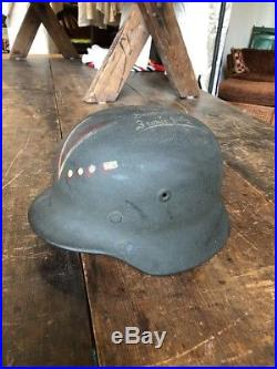 German Helmet M40 WW2 Army Authentic Bring Home D Day Normandy