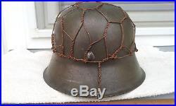German Helmet M42 Size 64 Chicken Wire Stahlhelm Ww2