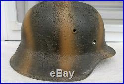 German Helmet M42 Size Ns62 Camo Ww2 Stahlhelm