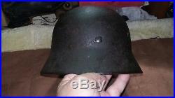 German Helmet Size 64 Ww2 Stahlhelm Wehrmacht Luftwaffe