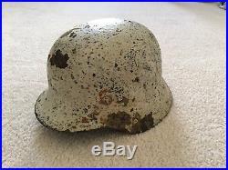 German Helmet with Russian Helmet WWII with Replica Grenade SALE PRICE