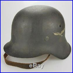 German Luftwaffe M42 helmet All original
