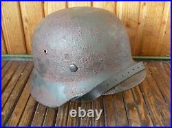 German M-35 steel helmet, size 62, WW2, restoration