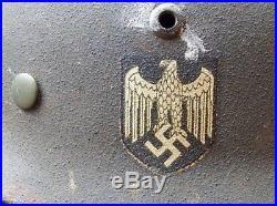 German M35 steel combat helmet factory issued to M40 specs very Rare