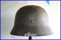German M40 Helmet, Camouflage, Original, withLiner