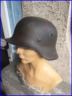 German M42 Helmet With No Liner. WW2